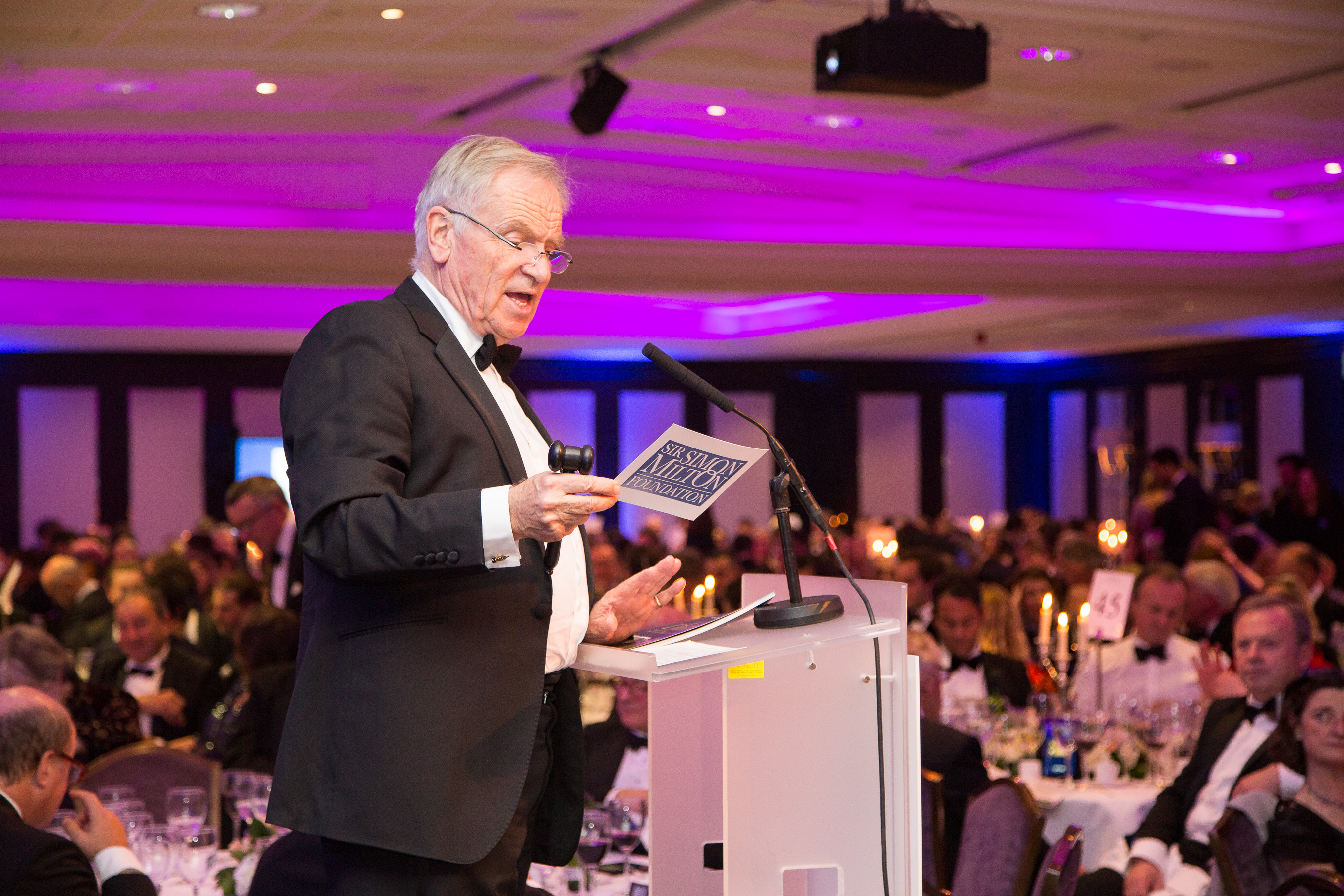 Jeffrey Archer hosting live auction at the Gala Dinner